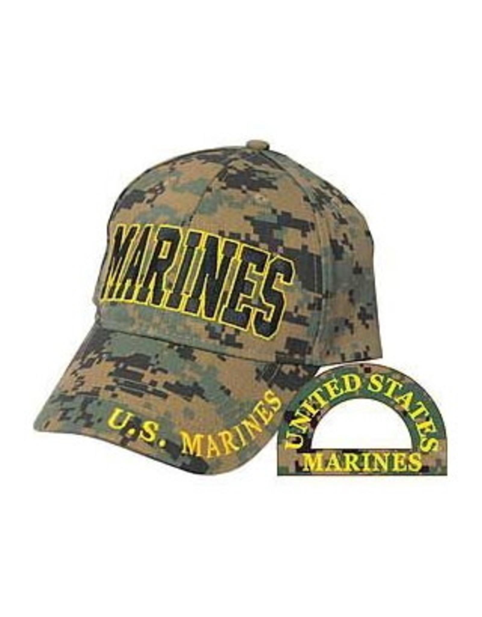 MidMil MARINES Hat on Woodland Digital
