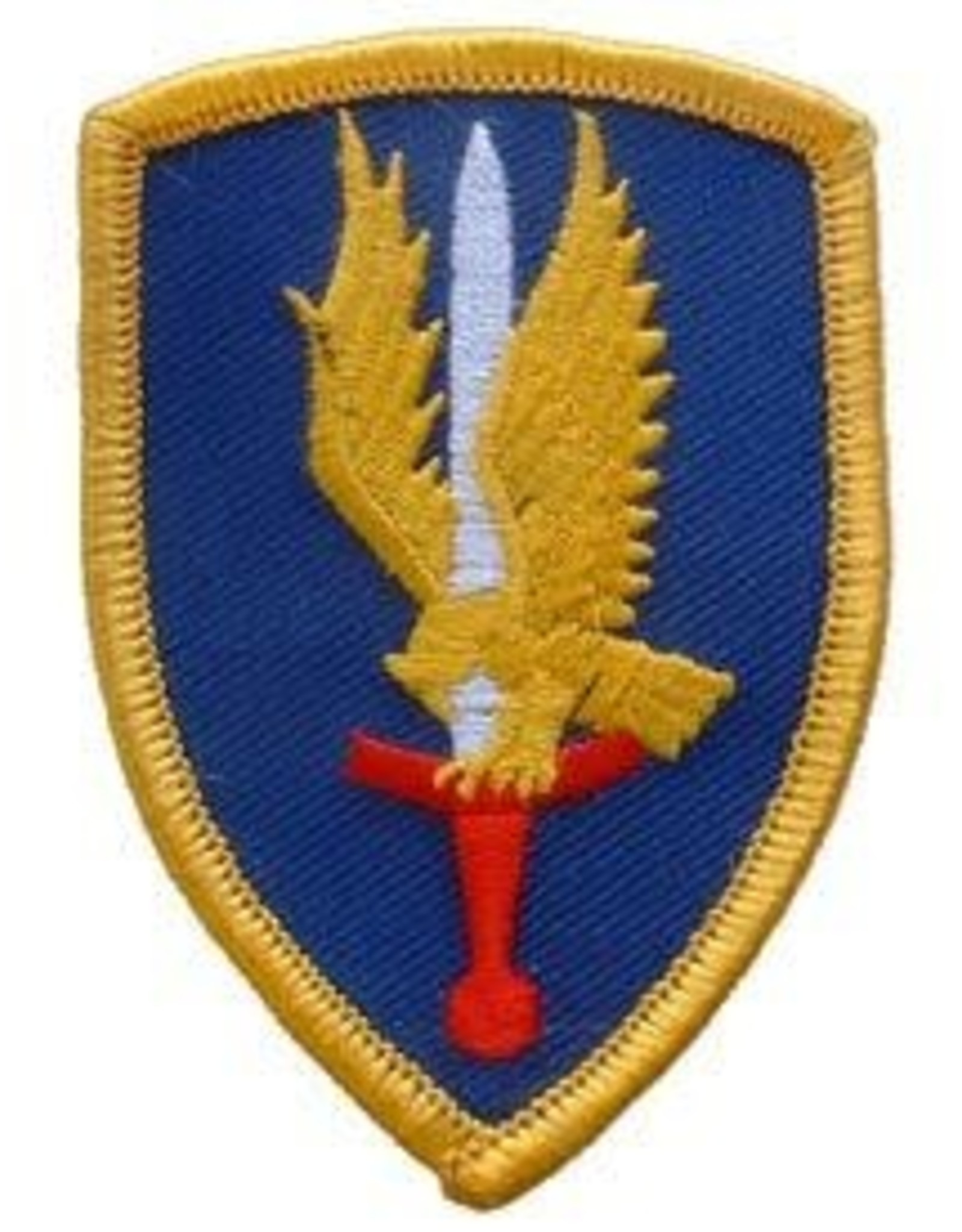 """MidMil Embroidered 1st Aviation Brigade Emblem Patch 2.4"""" wide x 3.4"""" high"""