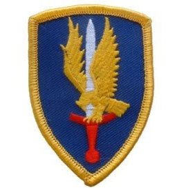 "MidMil Embroidered 1st Aviation Brigade Emblem Patch 2.4"" wide x 3.4"" high"