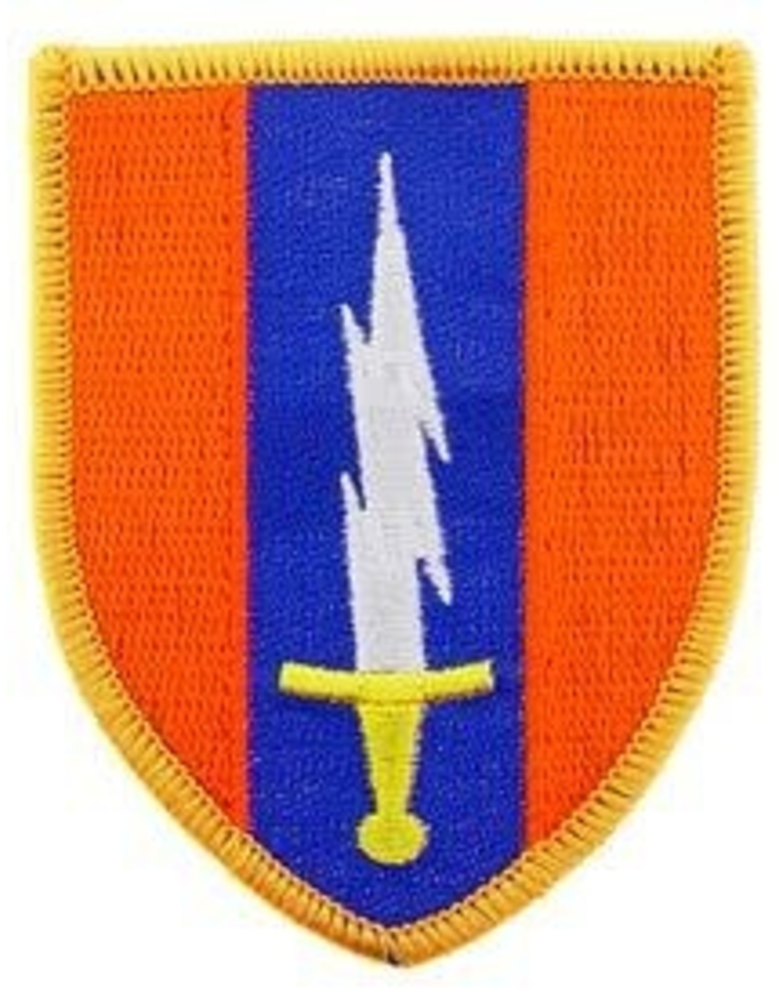 """MidMil Embroidered 1st Signal Brigade Patch 2.3"""" wide x 3"""" high"""