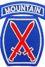 "MidMil Embroidered 10th Mountain Infantry Emblem Patch 2.4"" wide x 3.2"" high"