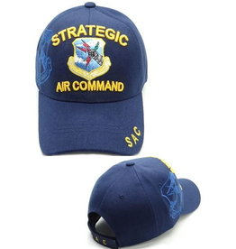 MidMil Air Force Strategic Air Command SAC Hat with Emblem and Shadow Dark Blue