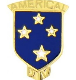 """MidMil 23rd Americal Infantry Division Emblem Pin 3/4"""""""
