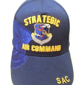MidMil Air Force Strategic Air Command SAC Hat with Over Shadow Dark Blue