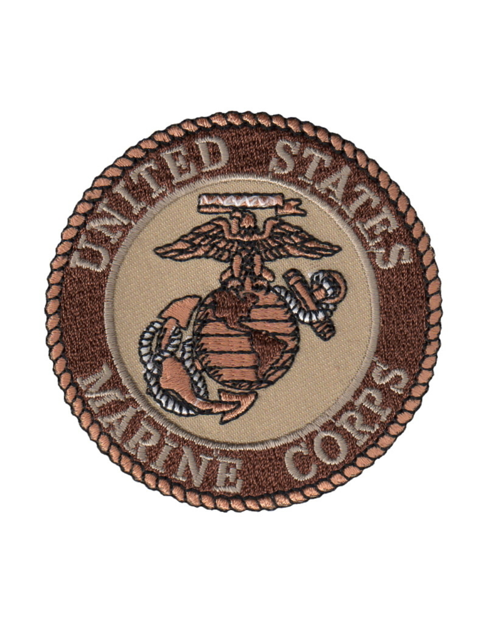MidMil Embroidered Subdued Marine Corps Seal Desert 3""