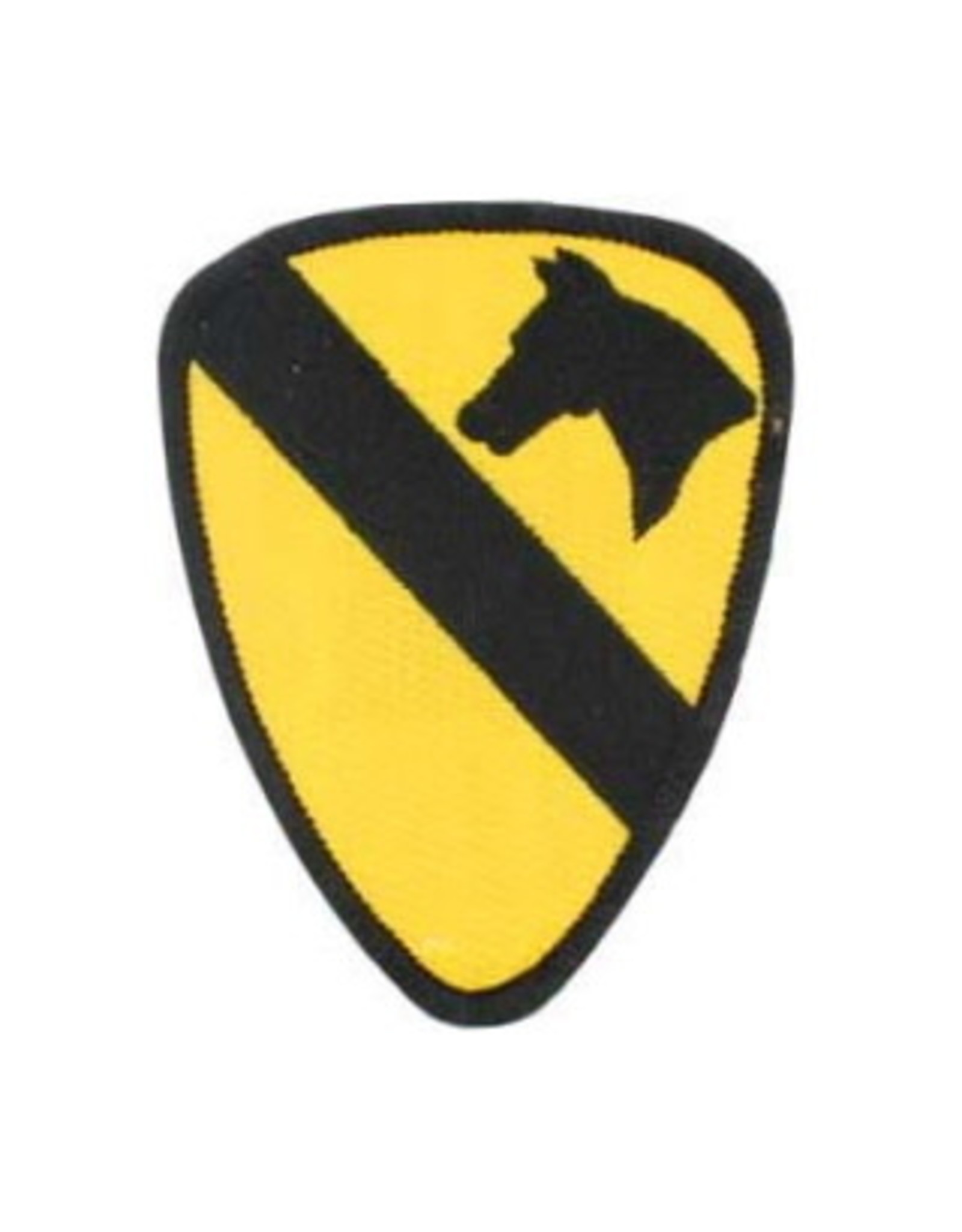 """MidMil Embroidered 1st Cavalry Division Emblem Patch 2.5"""" wide x 3.5"""" high"""