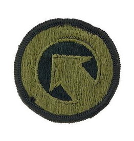 "MidMil Embroidered Subdued Army 1st Logistical Command Patch 2"" Olive Drab"