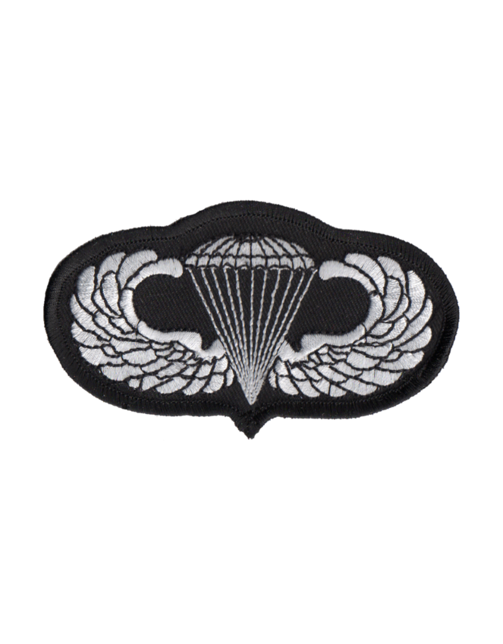 "MidMil Embroidered Parachutist Wings Patch 4.1"" wide x 2.3"" high"