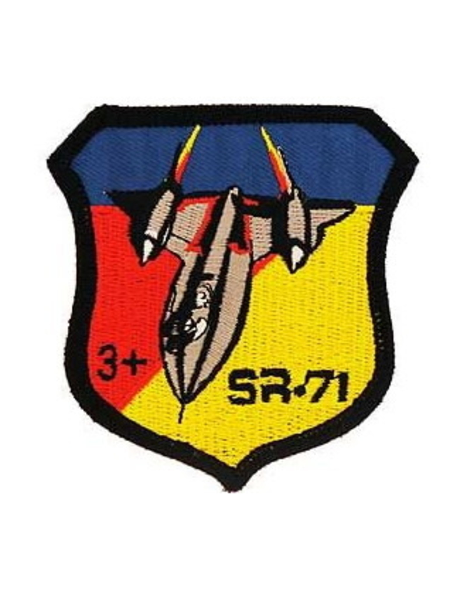"""MidMil Embroidered Air Force SR-71 Patch 2.7"""" wide x 2.8"""" high"""