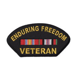 MidMil Embroidered Enduring Freedom Veteran Patch with Ribbons