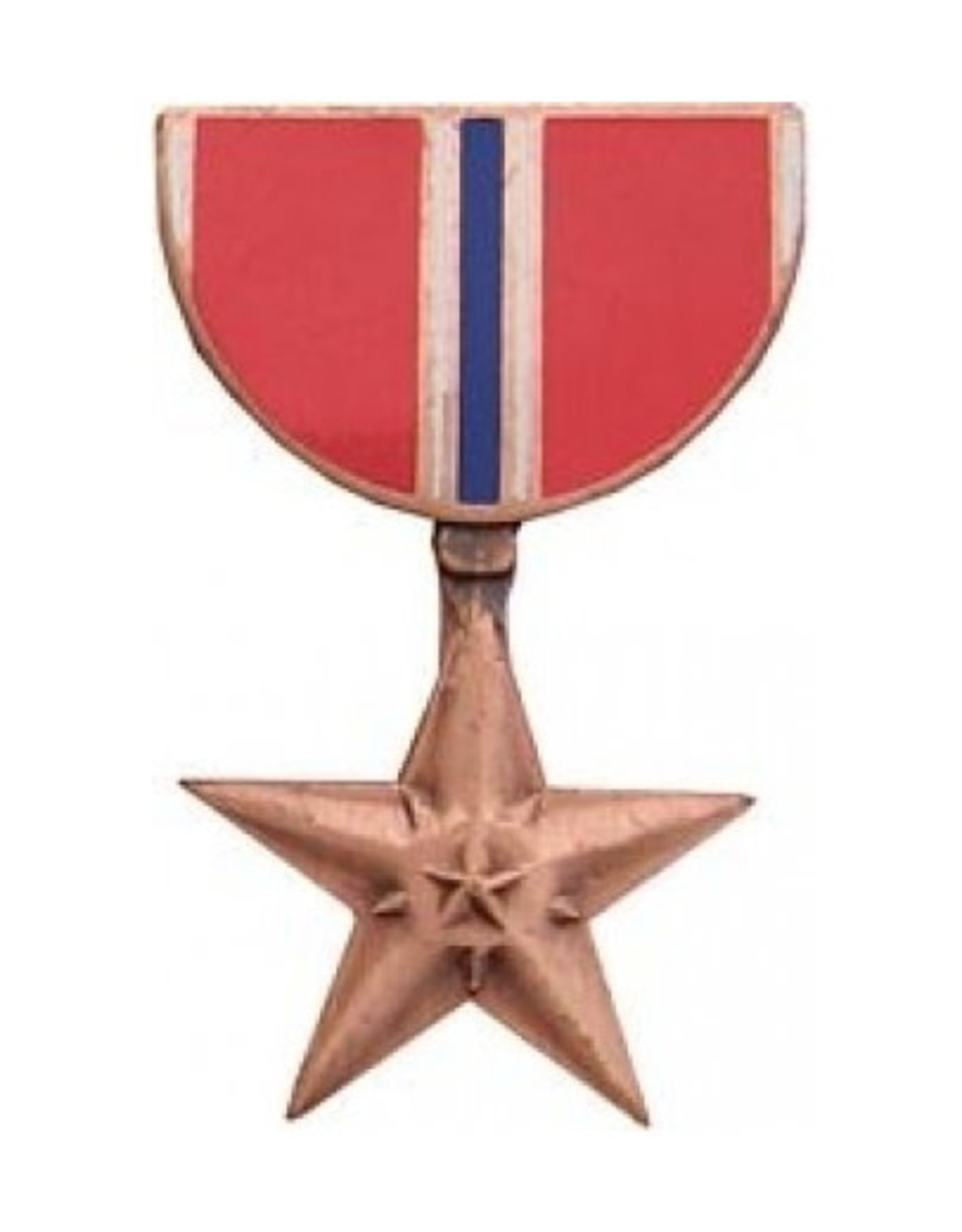 MidMil Bronze Star Medal Pin 1 1/8""
