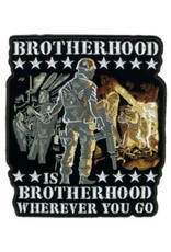 """MidMil Embroidered Brotherhood is Brotherhood Wherever You Go Patch 4.9"""" wide x 5.6"""" high"""
