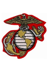 """MidMil Marine Corps Globe and Anchor Emblem Patch  3.2"""" wide x 3.3"""" high"""