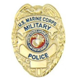 "MidMil Marine Corps Military Police Badge Pin 1"""