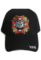 MidMil VFW Veterans of Foreign Wars Hat with VFW Emblem Black