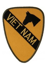 "MidMil Embroidered Army 1st Cavalry Vietnam Patch 2.3"" wide x 3"" high"