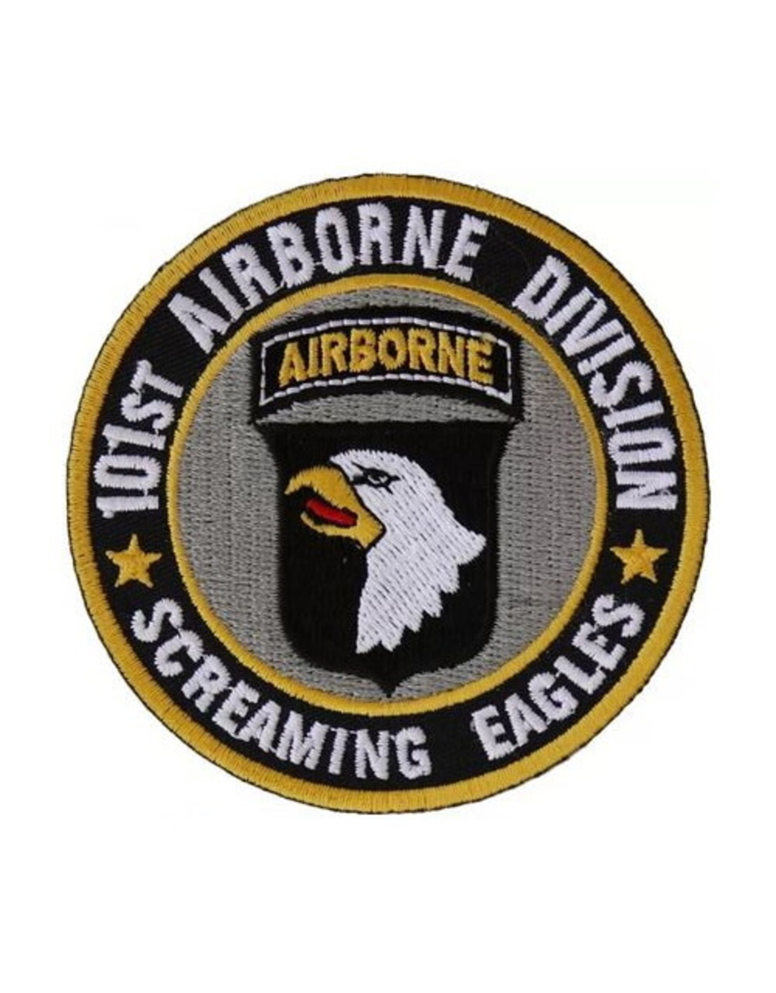MidMil Embroidered Army 101st Airborne Division Patch with Screaming Eagles Motto and  Emblem 3""