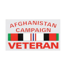 """MidMil Afghanistan Campaign Veteran Decal with Ribbon 5"""" wide x 2-13/16"""" high"""