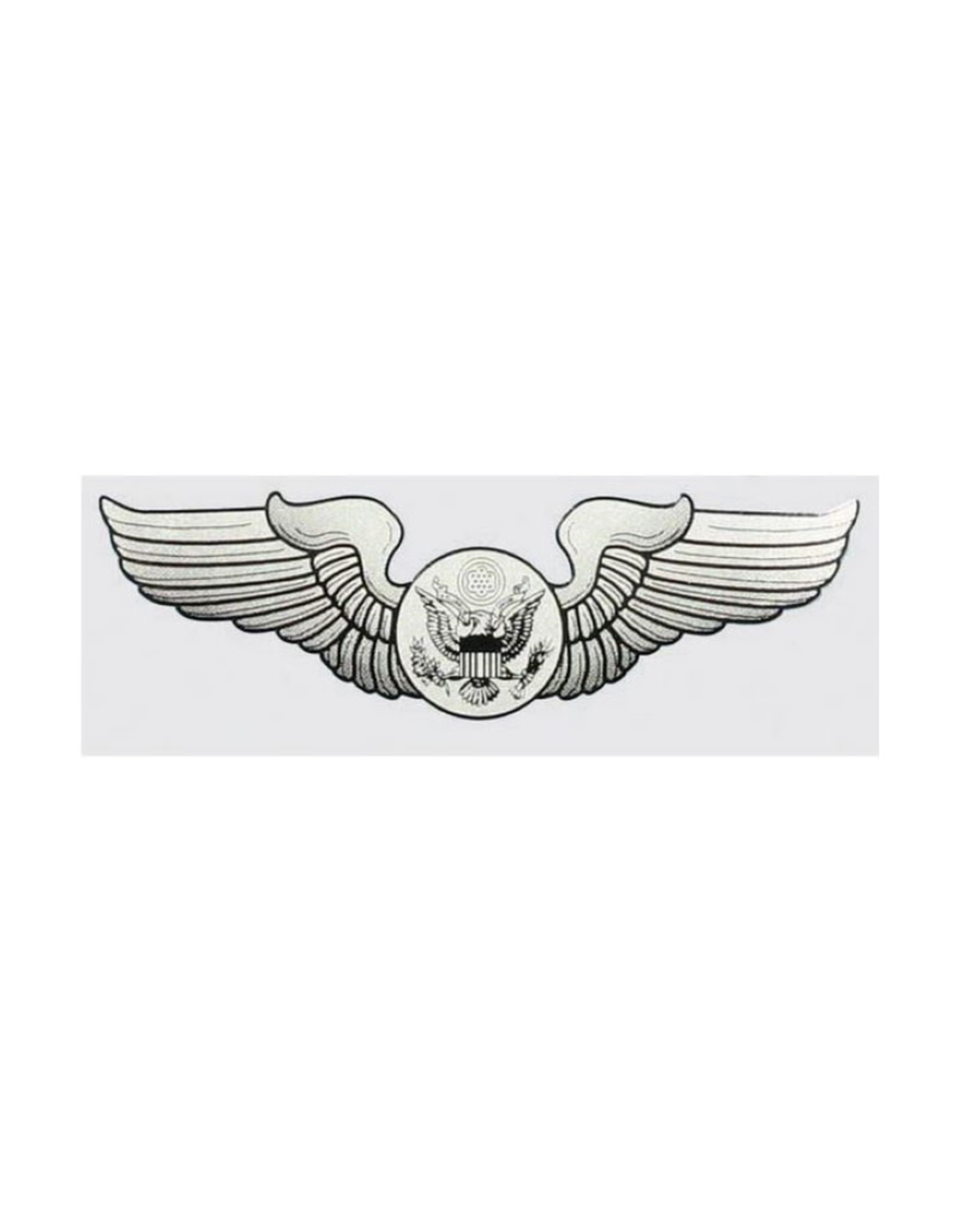 """MidMil Air Force Aircrew Wings Decal 5.25"""" wide x 1.5"""" high"""