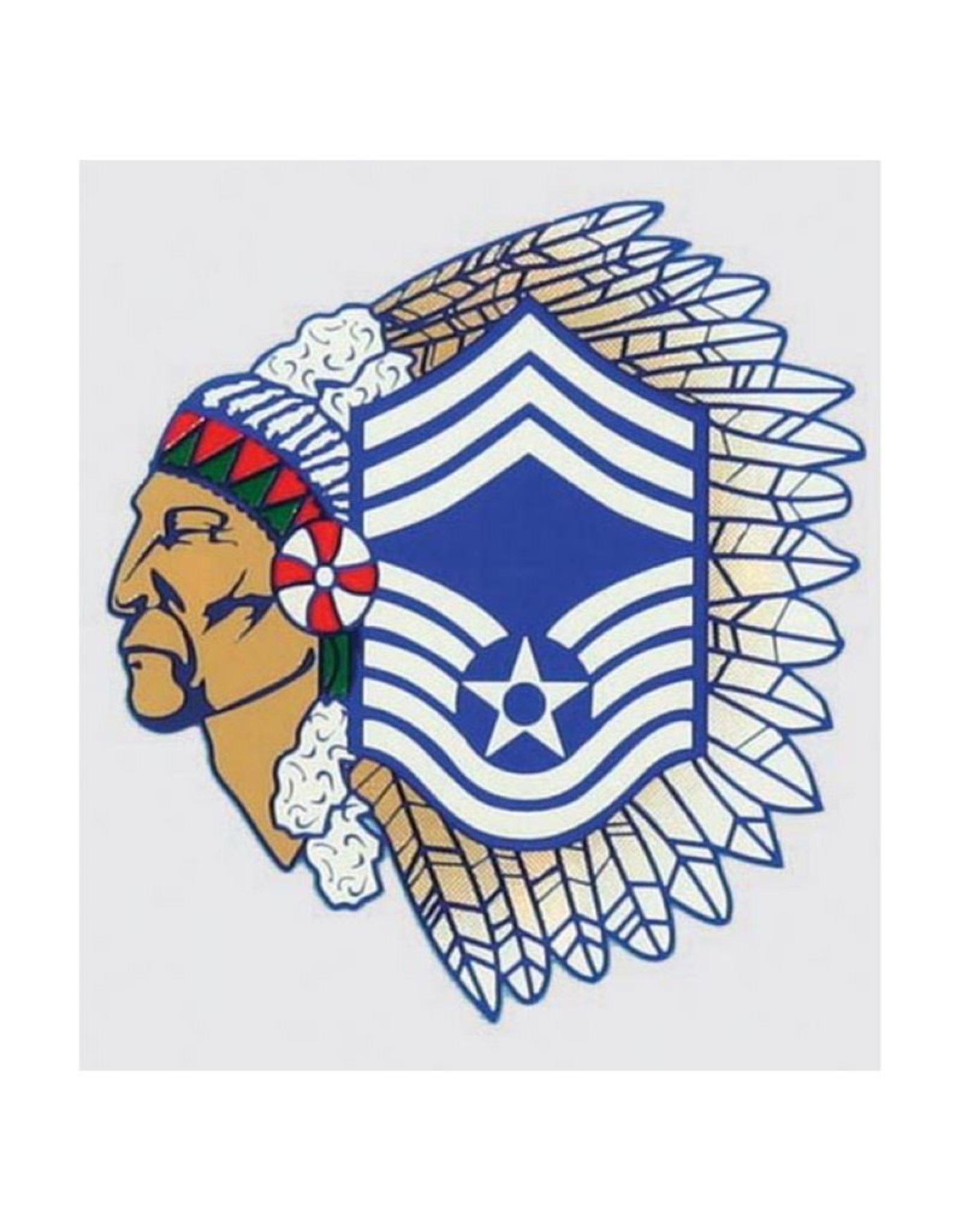 "MidMil Air Force Chief Master Sergeant ""Chief"" Decal 3.5"" wide x 3.25"" high"