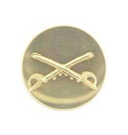 "MidMil Army Cavalry Collar Emblem 1-1/16"" Dia"