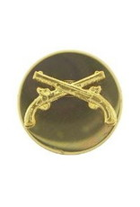 """MidMil Army Military Police Collar Device Pin 1-1/16"""" Dia"""