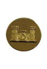 "MidMil Army Engineer Collar Device Pin 1-1/16"" Dia"