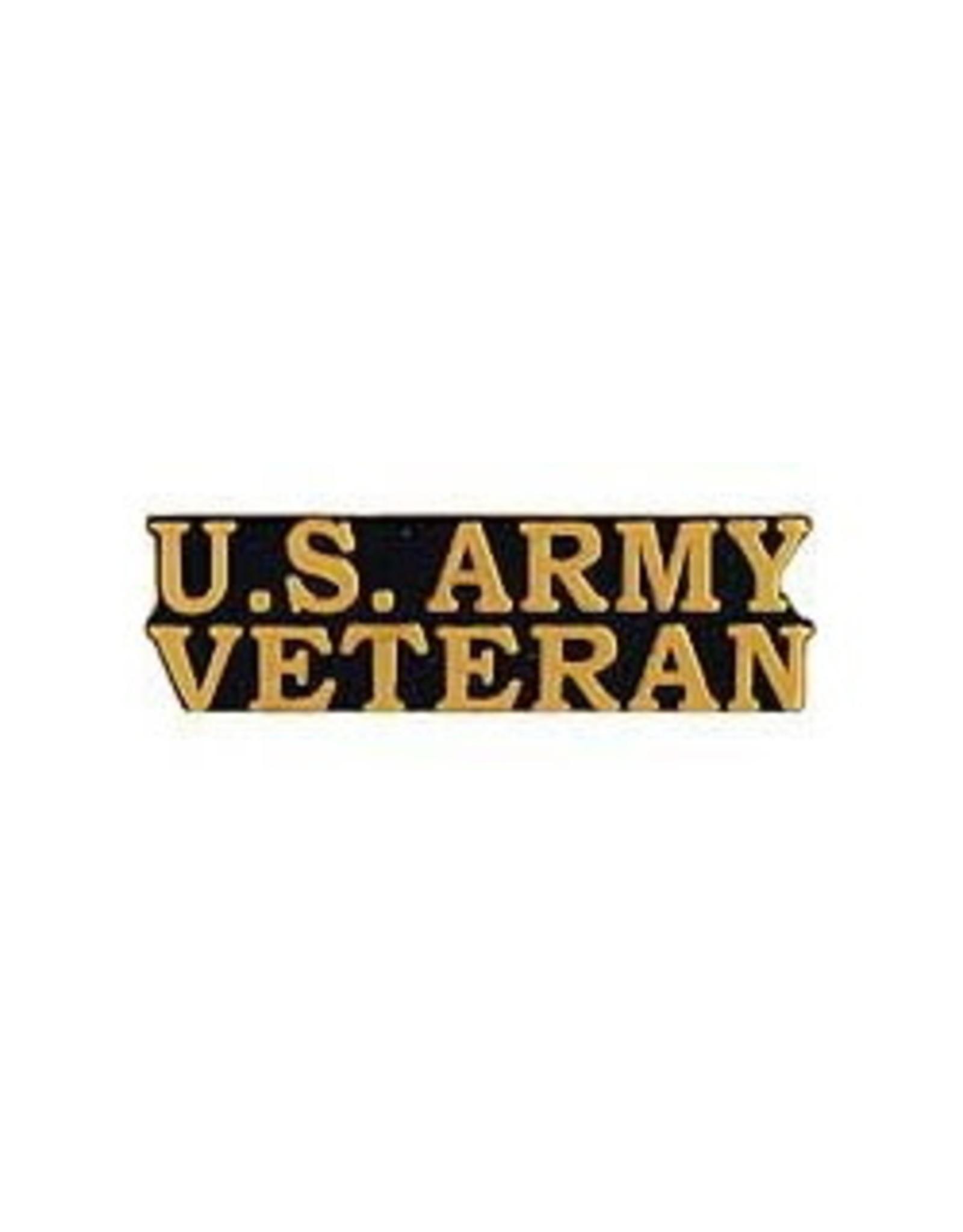 """MidMil U.S. Army Veteran Text Pin 1-1/2"""""""
