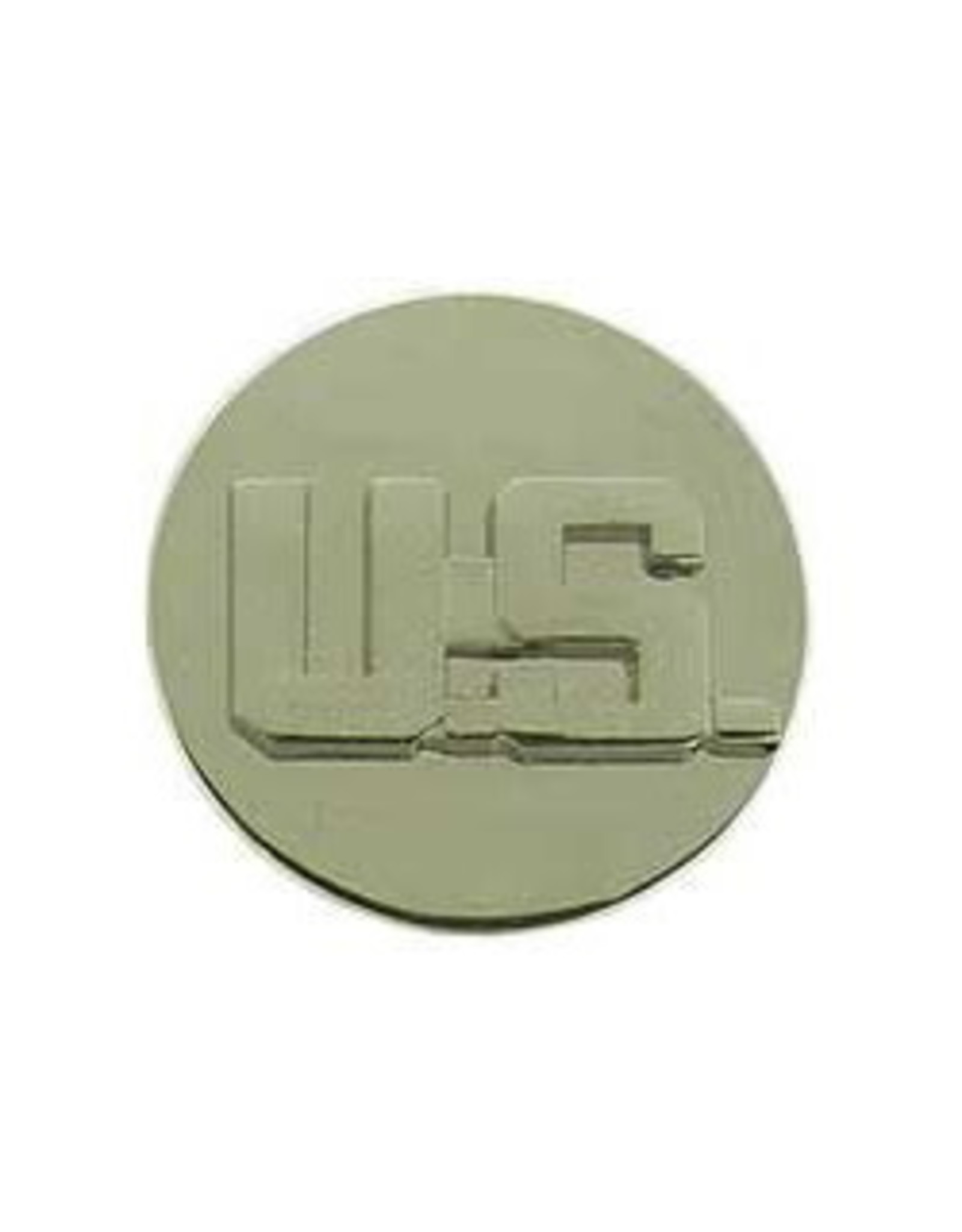 "MidMil Army U.S. Collar Device Pin  1"" Diameter Silver"