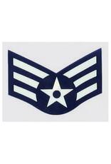"""MidMil Air Force Rank Senior Airman (E4) 2"""" wide x 2"""" high"""