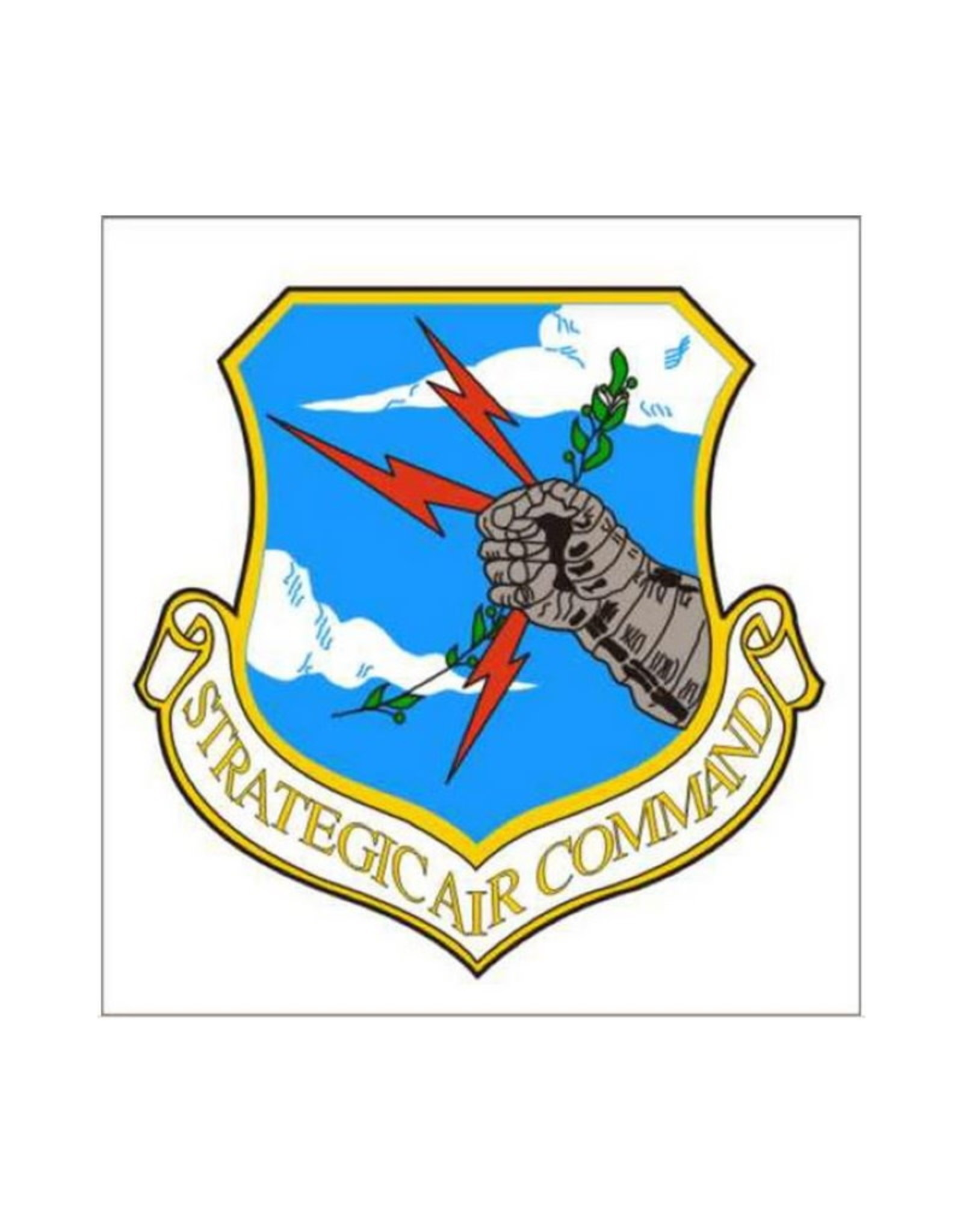 "MidMil Air Force Strategic Air Command SAC Decal 3.5"" wide x 3.5"" high"