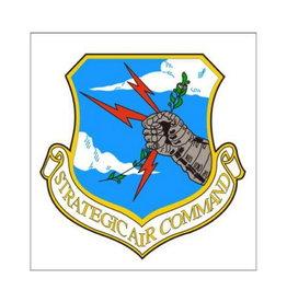"MidMil Air Force Strategic Air Command SAC Decal 3.5"" wide x 3.5"" high"