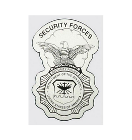 "MidMil Air Force Security Police Decal 3"" wide  x 4.5"" high"