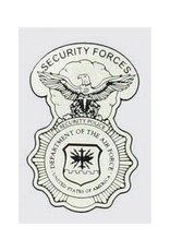 """MidMil Air Force Security Police Decal 1.5"""" wide x 2.25"""" high"""