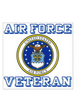 "MidMil Air Force Veteran Decal with Seal 3.75"" wide x 3.5"" high"