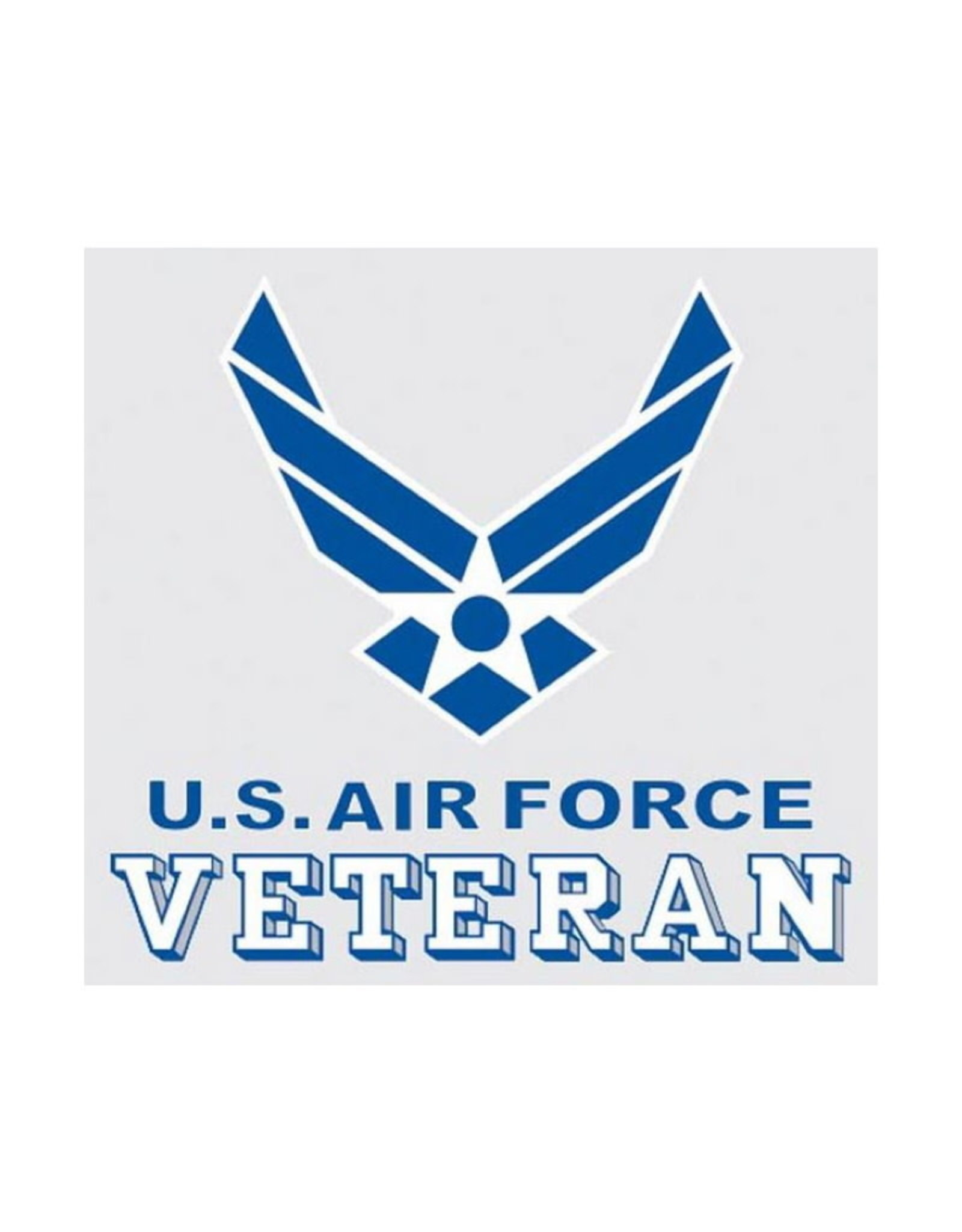 """MidMil Air Force Veteran Decal with Wings Emblem 3.5"""" wide x 3.25"""" high"""