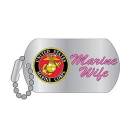 MidMil Marines Wife Seal Pin 1""