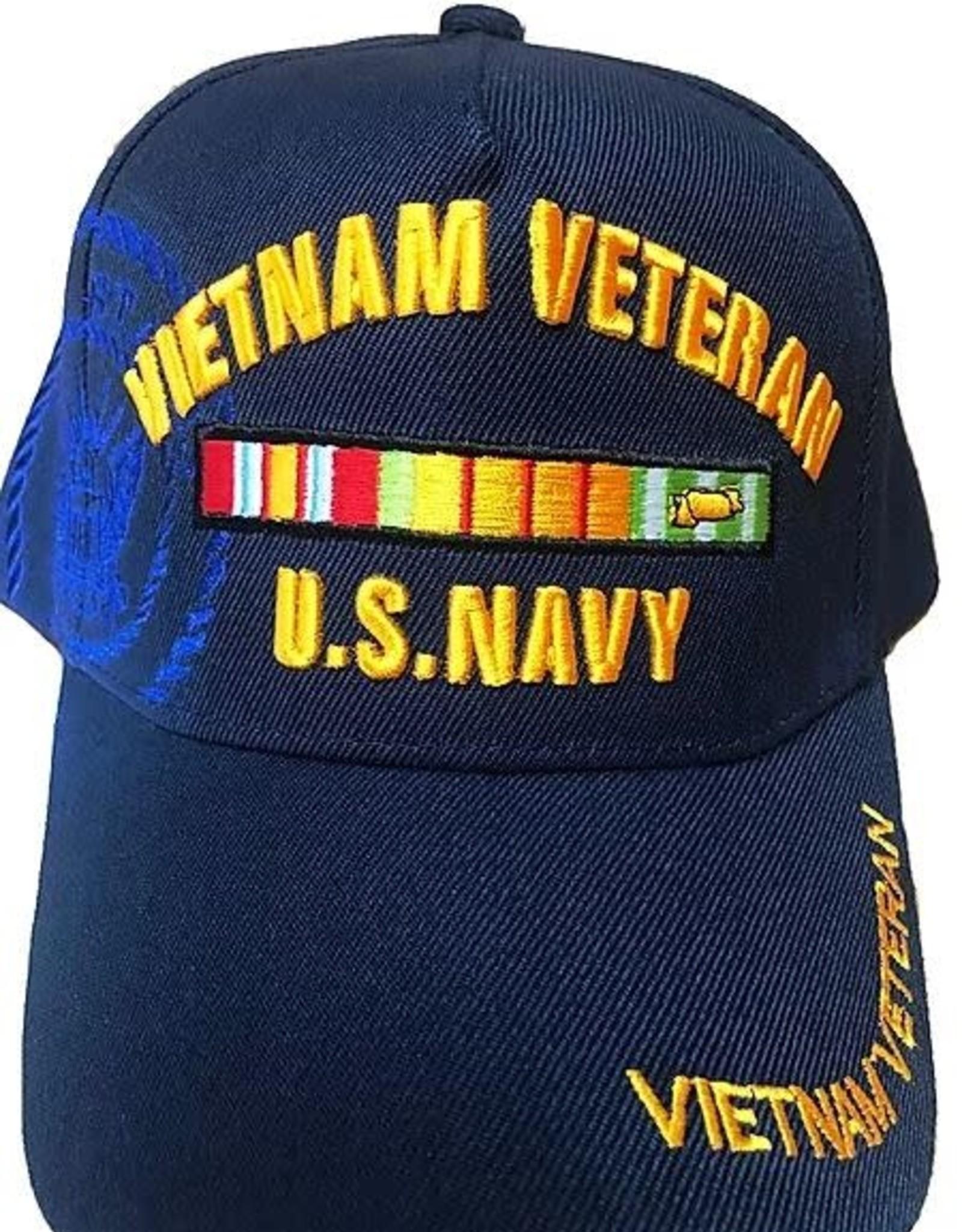 MidMil U.S. Navy Vietnam Veteran Hat with Ribbons and Shadow Dark Blue