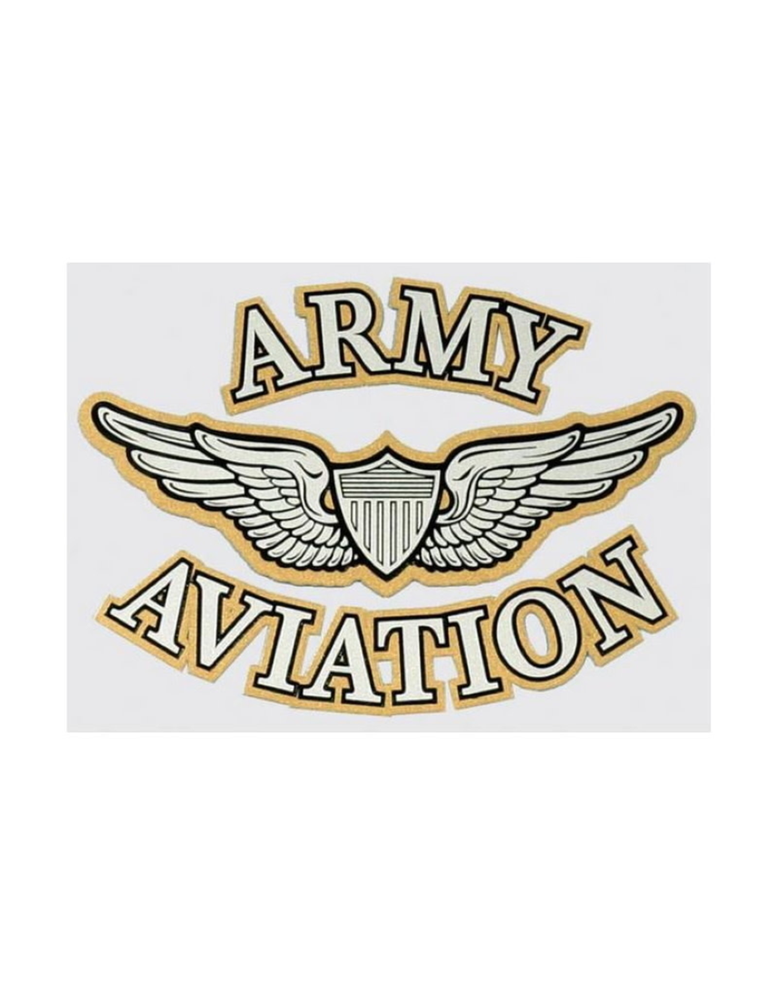 "MidMil Army Aviation Aircrew Wings Decal 5"" wide x 3.5"" high"