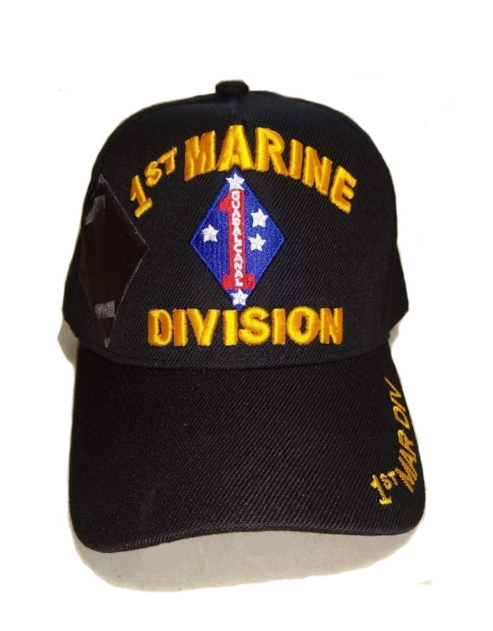 MidMil 1st Marine Division Hat with Emblem and Shadow Black