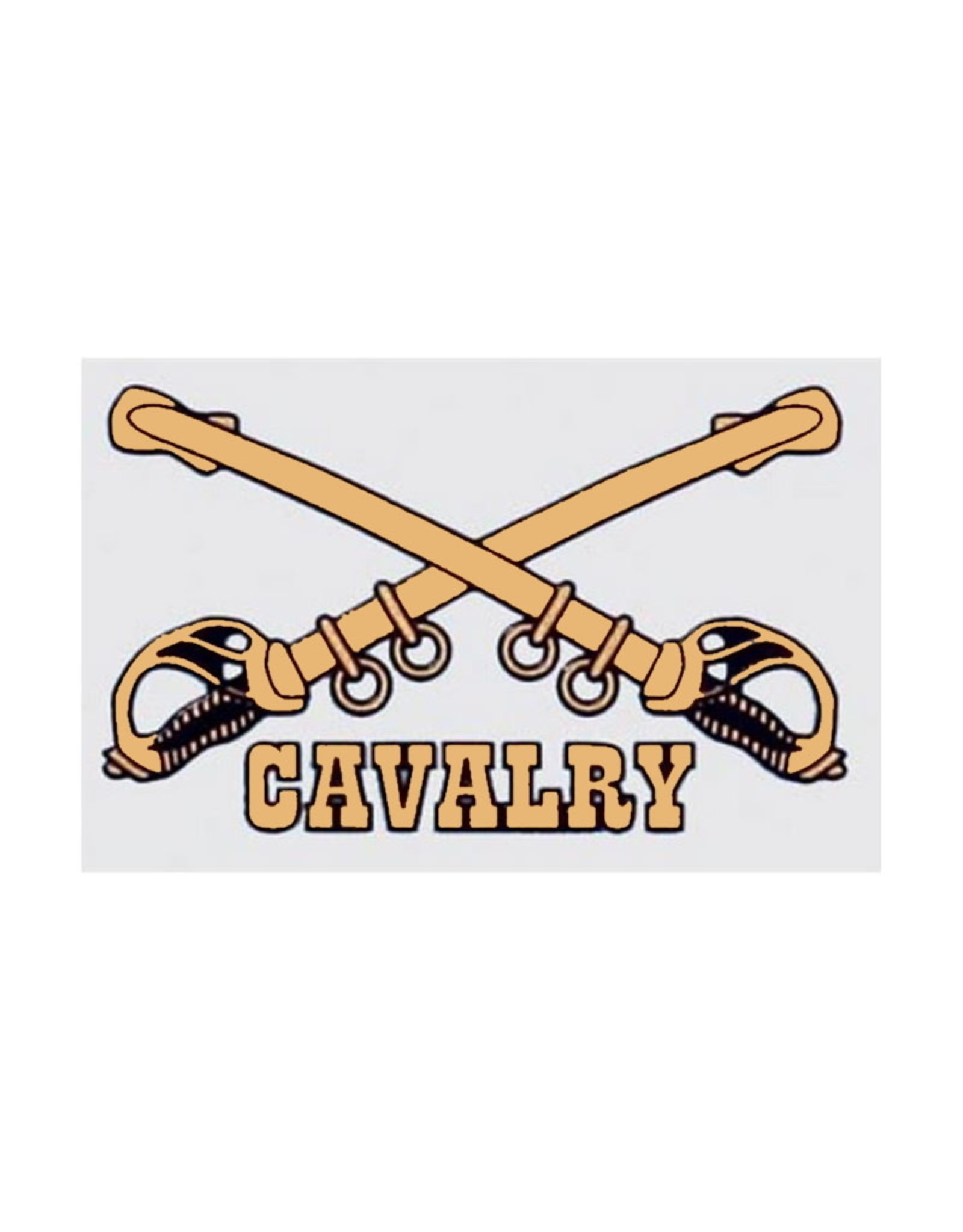 "MidMil Army Cavalry Emblem Decal  2.6"" wide x 1.8"" high"
