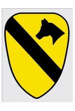 "MidMil Army 1st Cavalry Emblem Decal 2.7"" wide x 3.7"" high"