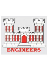 "MidMil Army Corps of Engineers Emblem Decal 4.5"" wide x 3.5"" high"