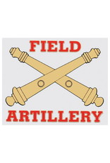 MidMil Decal Sm Army Field Artillery (Crossed Cannons)  4.5 x 3.875
