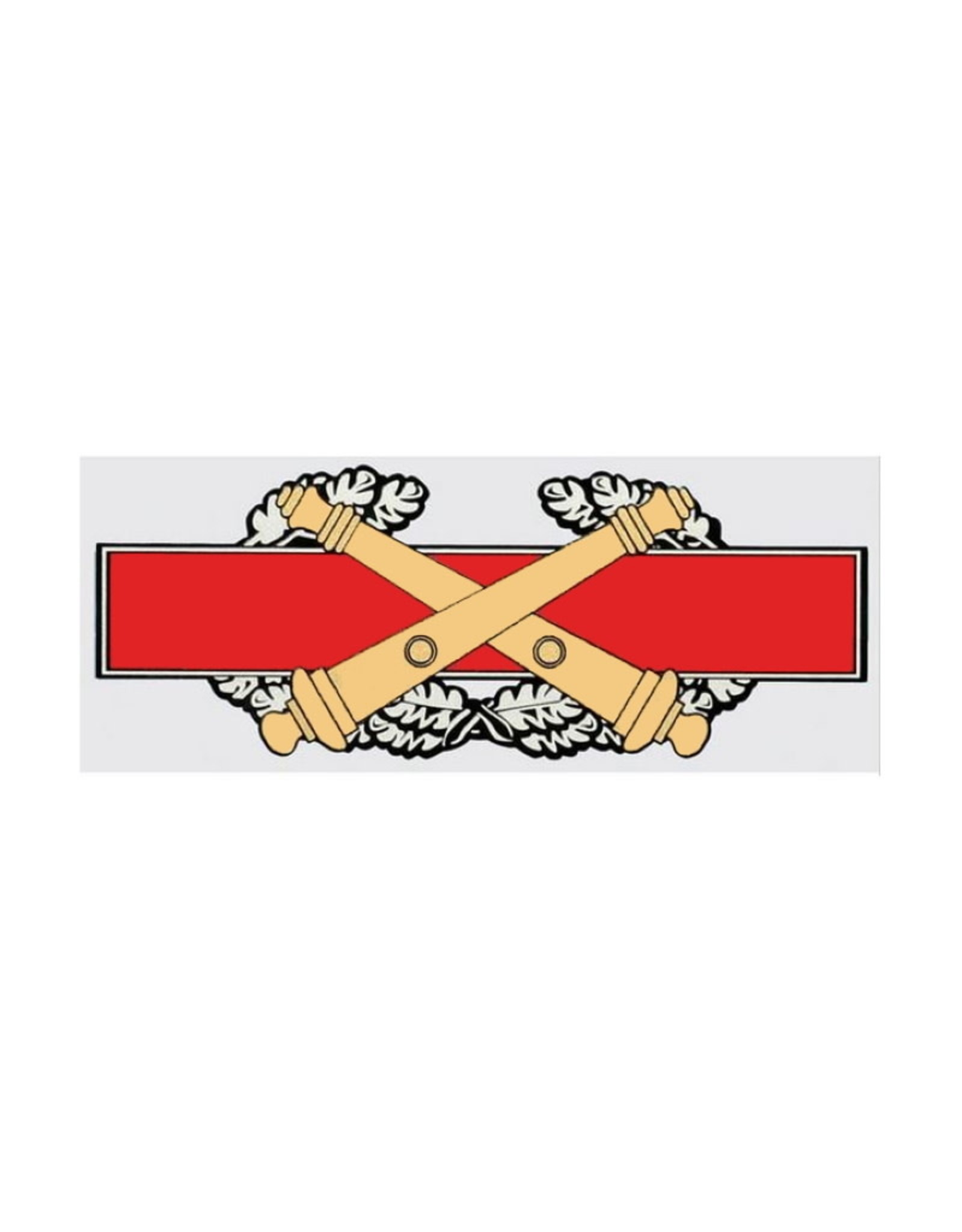"""MidMil Army Combat Field Artillery Badge Decal 6.5"""" wide x 3"""" high"""
