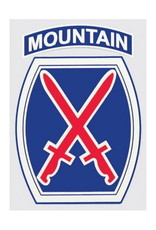 "MidMil Army 10th Mountain Infantry Division Emblem Decal 2.8"" wide x 4"" high"