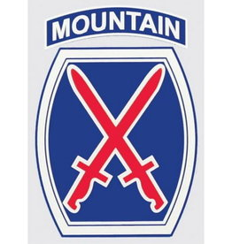 """MidMil Army 10th Mountain Infantry Division Emblem Decal 2.8"""" wide x 4"""" high"""