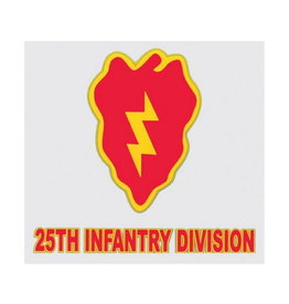 """MidMil Army 25th Infantry Division Decal 3.7"""" wide x 4"""" high"""
