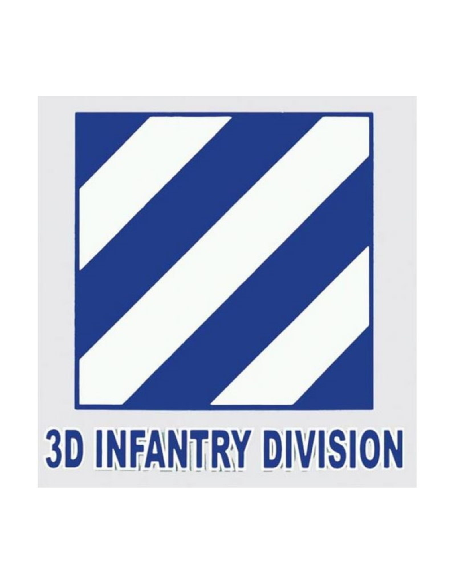 "MidMil Army 3rd Infantry Division Decal 4"" wide x 4"" high"