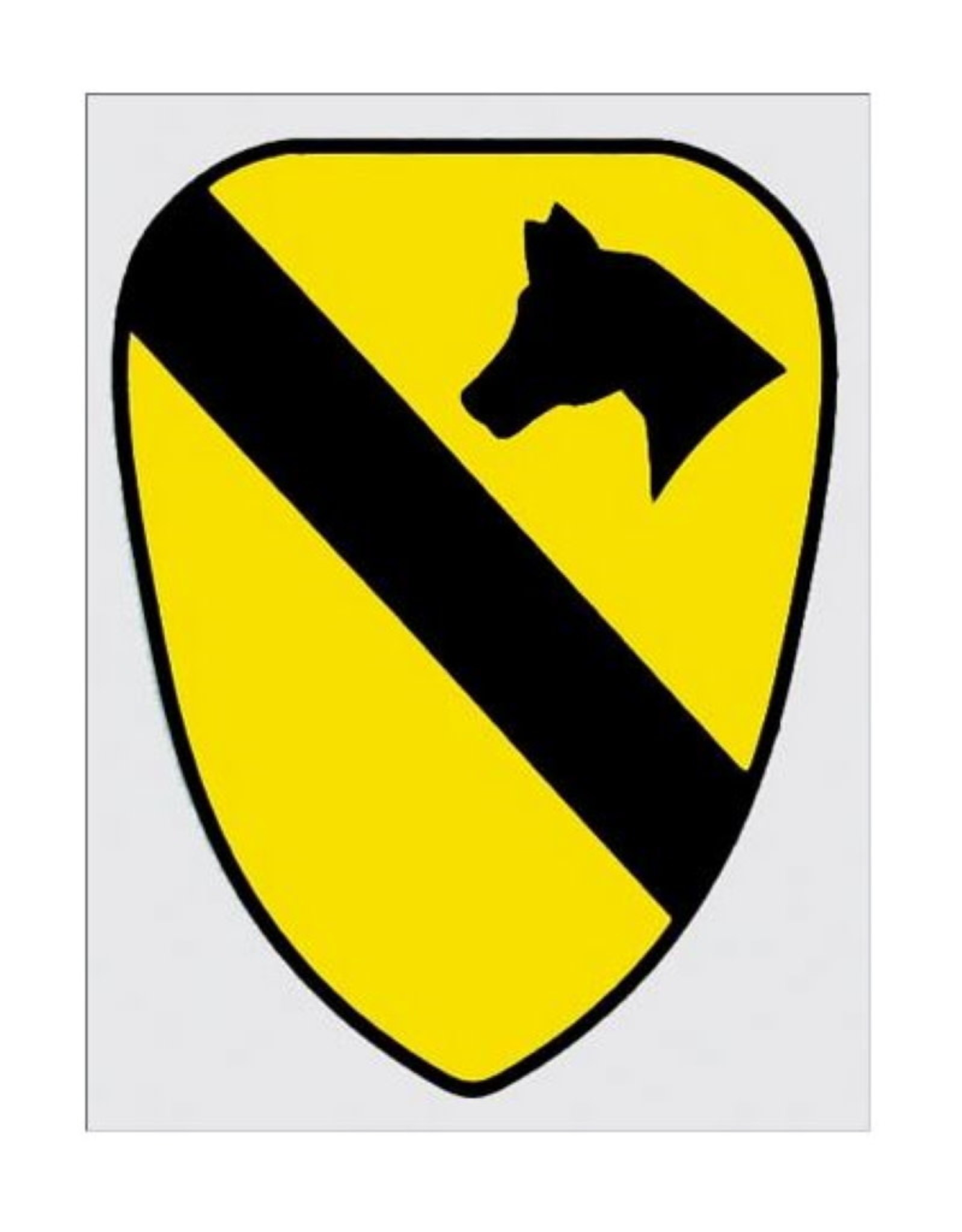 "MidMil Army 1st Cavalry Emblem Decal 4"" wide x 5.5"" high"